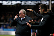 All fingers point to Peterborough United manager Steve Evans  during  the The FA Cup 2nd round match between Peterborough United and Bradford City at London Road, Peterborough, England on 1 December 2018.