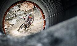 14.06.2014, Bike Park, Leogang, AUT, UCI, Mountainbike Weltcup, Leogang, Downhill, Herren, im Bild Greg Minnaar (RSA) // during Mens Downhill of UCI Mountainbike Worldcup at the Bikepark, Leogang, Austria on 2014/06/14. EXPA Pictures © 2014, PhotoCredit: EXPA/ JFK