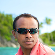 Portrait of a modern papua.