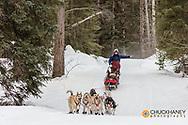 The Flathead Classic dog sled race near Olney, Montana, USA