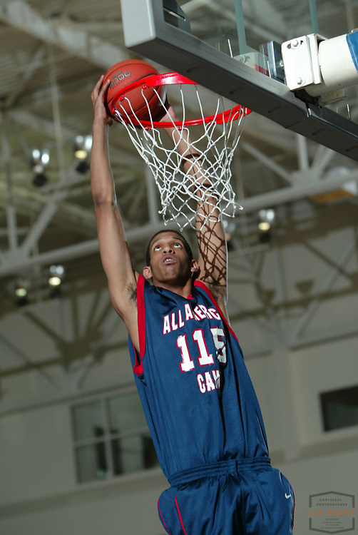 Brandan Wright (115) at the Nike All American basketball camp in Indianapolis,Friday, July 8, 2005. (Mandatory Credit: AJ Mast/Ronin Images)......***LOW RES FPO ONLY, HIGH RES AVLAIBLE OFFLINE***