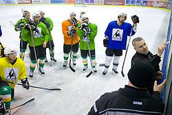 New head coach Randy William Edmonds (CAN) at ice hockey practice of HDD Tilia Olimpija,  on October 16, 2008 in Arena Tivoli, Ljubljana, Slovenia.  (Photo by Vid Ponikvar / Sportal Images)
