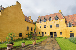 Exterior view of Culross Palace in Fife Scotland