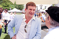 The HON.PEREGRINE HOOD at a luncheon hosted by Cartier for their sponsorship of the Style et Luxe part of the Goodwood Festival of Speed at Goodwood House, West Sussex on 4th July 2010.