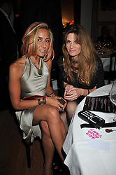 Left to right, TARA BERNARD and JEMIMA KHAN at fundraising dinner and auction in aid of Liver Good Life a charity for people with Hepatitis held at Christies, King Street, London on 16th September 2009.