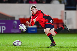Dragons' Dan Babos during the pre match warm up<br /> <br /> Photographer Craig Thomas/Replay Images<br /> <br /> EPCR Champions Cup Round 4 - Newport Gwent Dragons v Newcastle Falcons - Friday 15th December 2017 - Rodney Parade - Newport<br /> <br /> World Copyright © 2017 Replay Images. All rights reserved. info@replayimages.co.uk - www.replayimages.co.uk