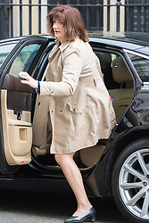 Downing Street, London, April 19th 2016. Education Secretary Nicky Morgan arrives at Downing Street for the weekly cabinet meeting.