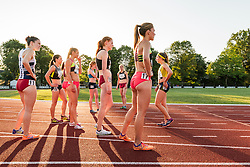 Adrian Martinez Classic track meet, Women's High Performance Adro Mile, competitors waiting for introductions