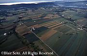 Southcentral Pennsylvania, Aerial Photographs, Farmlands, Cultivation and Contour farming, Susquehanna River (top) Dauphin Co., PA