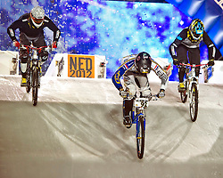 04-02-2012 SKATING: RED BULL CRASHED ICE WORLD CHAMPIONSHIP: VALKENBURG<br /> Mountain bikes go downhill<br /> ©2012-FotoHoogendoorn.nl / Peter Schalk