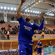 Anadolu Efes's Alex Tyus warms-up prior to their Turkish Basketball Super League match Istanbul BBSK between Anadolu Efes at Cebeci Arena in Istanbul Turkey on Sunday 29 November 2015. Photo by Aykut AKICI/TURKPIX