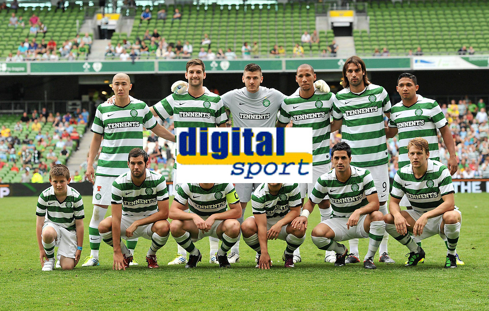 30 July 2011; The Glasgow Celtic FC team. Dublin Super Cup, Inter Milan v Glasgow Celtic FC, Aviva Stadium, Lansdowne Road, Dublin.