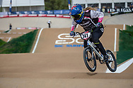 #741 (LOCKWOOD Erin) AUS at Round 1 of the 2020 UCI BMX Supercross World Cup in Shepparton, Australia