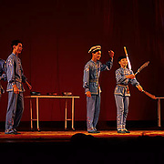 China, Cities, Performance of acrobatic team in city of Shanghai.