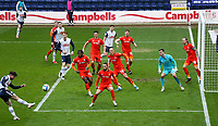 Preston North End's Sean Maguire shoots at goal<br /> <br /> Photographer Alex Dodd/CameraSport<br /> <br /> The EFL Sky Bet Championship - Preston North End v Luton Town - Saturday 20th March 2021 - Deepdale - Preston<br /> <br /> World Copyright © 2021 CameraSport. All rights reserved. 43 Linden Ave. Countesthorpe. Leicester. England. LE8 5PG - Tel: +44 (0) 116 277 4147 - admin@camerasport.com - www.camerasport.com