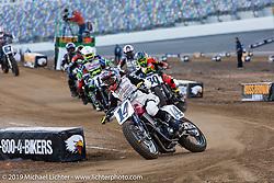 American Flat Track TT at Daytona International Speedway during Daytona Bike Week. Daytona Beach, FL. USA. Thursday March 15, 2018. Photography ©2018 Michael Lichter.