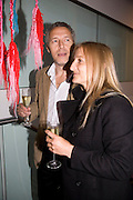 JULIAN OPIE; ANIELA BROCKI, The Hayward Gallery 40th birthday Gala. hayward Gallery. South Bank. 9 July 2008 *** Local Caption *** -DO NOT ARCHIVE-© Copyright Photograph by Dafydd Jones. 248 Clapham Rd. London SW9 0PZ. Tel 0207 820 0771. www.dafjones.com.