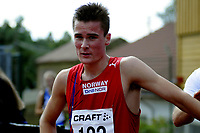 Friidrett<br /> Nordisk Landskamp<br /> Junior<br /> Fana Stadion<br /> 17. August 2008<br /> 1500 m<br /> Henrik Ingebrigtsen , Norge<br /> Foto : Astrid M. Nordhaug