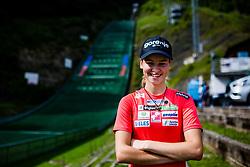 Nika Kriznar during practice session of Slovenian national Ski Jumping team on 18 August, 2020, in Kranj, Slovenia.  Photo by Grega Valancic / Sportida