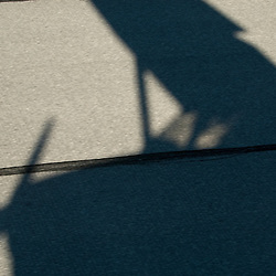 Aerial view of Cessna Single Engine Airplane shadow on runway