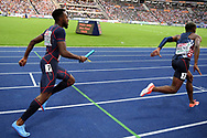 Meba-Mickael Zeze and Marvin Rene compete in men relay 4x100m during the European Championships 2018, at Olympic Stadium in Berlin, Germany, Day 6, on August 12, 2018 - Photo Philippe Millereau / KMSP / ProSportsImages / DPPI