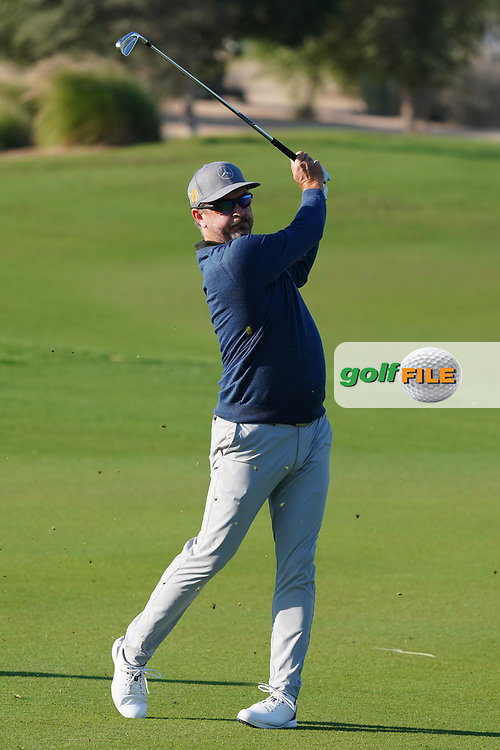 Mikko Korhonen (FIN) on the 1st during the Pro-Am of the Commercial Bank Qatar Masters 2020 at the Education City Golf Club, Doha, Qatar . 04/03/2020<br /> Picture: Golffile | Thos Caffrey<br /> <br /> <br /> All photo usage must carry mandatory copyright credit (© Golffile | Thos Caffrey)