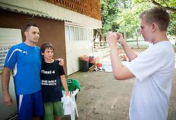 """Luka Zvizej during Handball Summer Camp named """"Rokometni tabor Urosa Zormana 2013"""" on June 29, 2013 in Savudrija, Croatia. (Photo by Vid Ponikvar / Sportida.com)"""