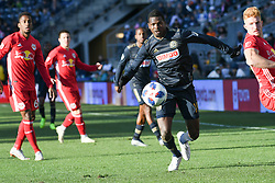 October 21, 2018 - Chester, Pennsylvania, U.S - Philadelphia Union defender CORY BURKE(19)  in action against the New York Red Bulls at Talen Energy Field in Chester PA (Credit Image: © Ricky Fitchett/ZUMA Wire)