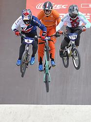 11-08-2018 BMX: EUROPEAN CHAMPIONSHIPS BMX CYCLING: GLASGOW<br /> Nick Kimmann verliest verrassend de halve finale BMW <br /> <br /> Foto: Margarita Bouma