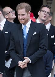 May 18, 2019 - Windsor, United Kingdom - Image licensed to i-Images Picture Agency. 18/05/2019. Windsor , United Kingdom. Prince Harry , The Duke of Sussex leaving the Lady Gabriella Windsor  wedding at St.George's Chapel, Windsor, United Kingdom. (Credit Image: © Stephen Lock/i-Images via ZUMA Press)