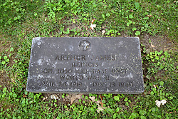 26 August 2017:   A part of the History of McLean County Illinois.<br /> <br /> Tombstones in Evergreen Memorial Cemetery.  Civic leaders, soldiers, and other prominent people are featured.<br /> <br /> Section 16 - Veterans Section<br /> Arthur James<br /> Illinois<br /> Corporal 1050 AAF Base Unit<br /> April 24 1919  Dec 18, 1949