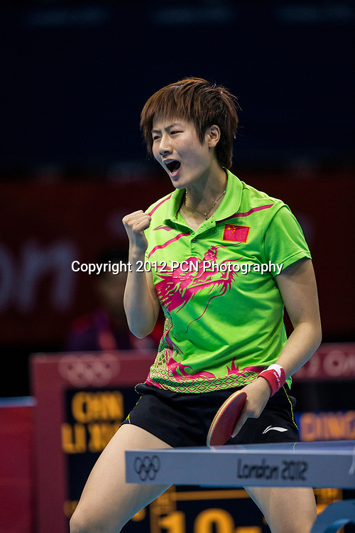 Ding Ning (CHN) wins the women's table tennis silver medal in Olympic Summer Games, London 2012