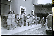 village farming community gathering of youth rural France 1950s