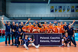 Netherlands take the first place and have a ticket for the CEV Eurovolley 2021 at Topsporthall Omnisport on May 16, 2021 in Apeldoorn, Netherlands