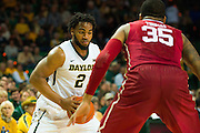 WACO, TX - JANUARY 24: Rico Gathers #2 of the Baylor Bears drives to the basket against the Oklahoma Sooners on January 24, 2015 at the Ferrell Center in Waco, Texas.  (Photo by Cooper Neill/Getty Images) *** Local Caption *** Rico Gathers