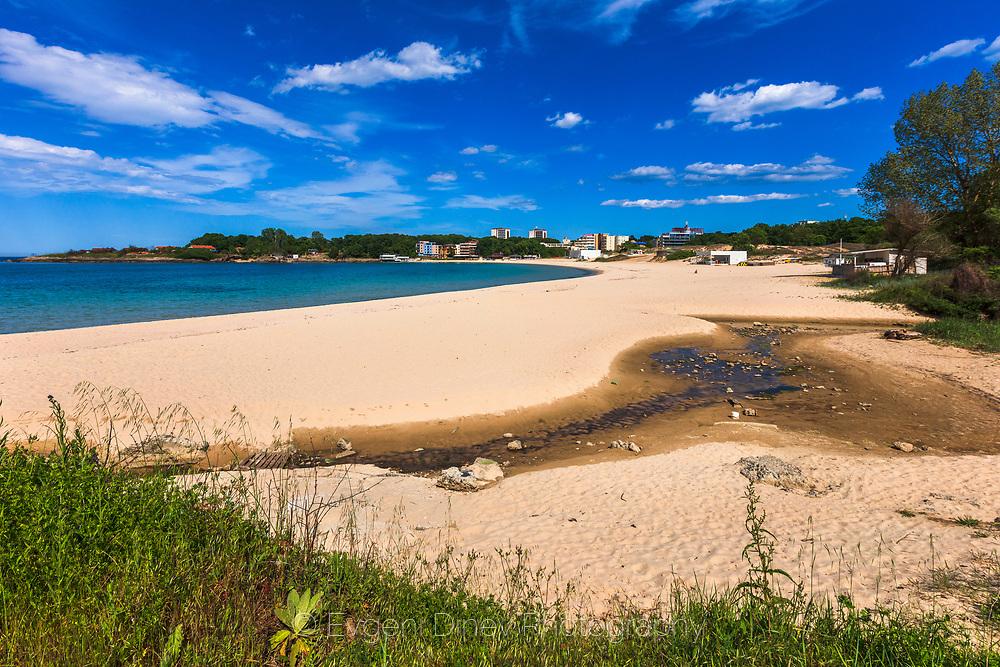 Beautiful sand beach in town of Kiten