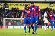 Crystal Palace #8 Ruben Loftus-Cheek (on loan from Chelsea), Crystal Palace #10 Andros Townsend during the Premier League match between Crystal Palace and Stoke City at Selhurst Park, London, England on 25 November 2017. Photo by Sebastian Frej.