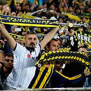 Fenerbahce's supporters during their Turkish superleague soccer derby Fenerbahce between Besiktas at the Sukru Saracaoglu stadium in Istanbul Turkey on Sunday 22 March 2015. Photo by Aykut AKICI/TURKPIX