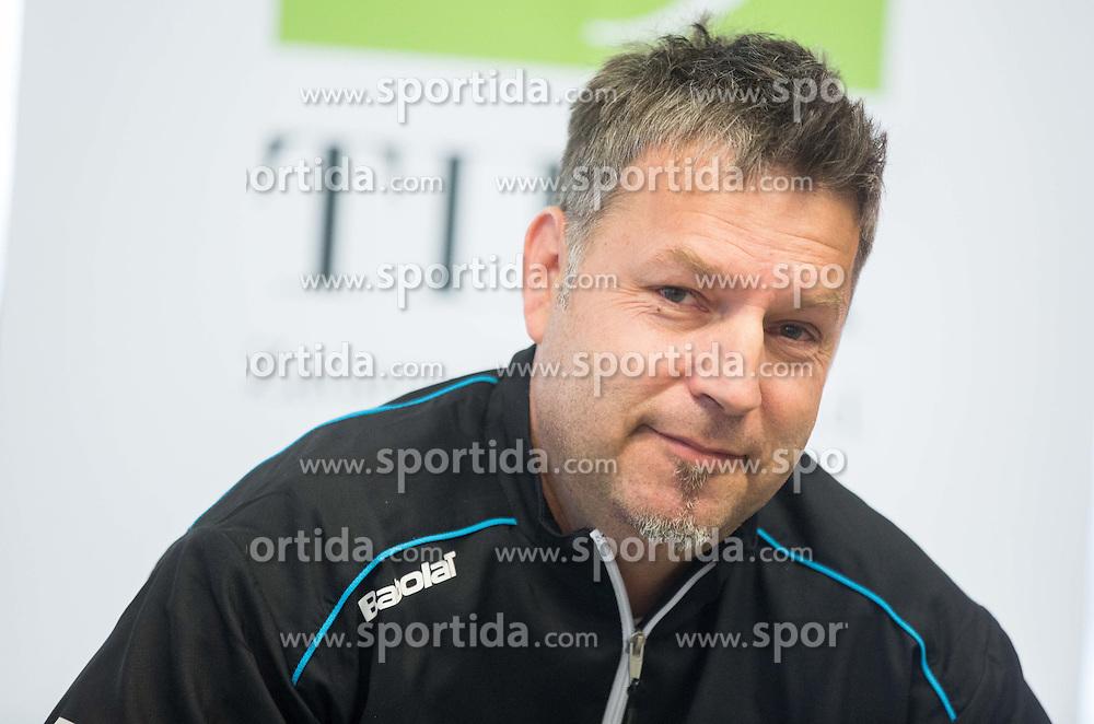Zoran Kofol during press conference of Slovenian women Tennis team before Fed Cup tournament in Tallinn, Estonia, on January 28, 2015 in Kristalna palaca, Ljubljana, Slovenia. Photo by Vid Ponikvar / Sportida