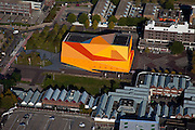 Nederland, Flevoland, Lelystad, 08-09-2009. Stadshart, het Agora theater en congrescentrum (architect Ben van Berkel UN-Studio)..Center of the city, the Agora Theater and Convention Center (architect Ben van Berkel, UN Studio)..toeslag); aerial photo (additional fee required); .foto Siebe Swart / photo Siebe Swart