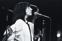 1976, New York, New York, USA --- Patti Smith Performing on Saturday Night Live --- Image by © Owen Franken