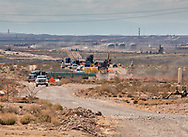 Pipeline building in the Permian Basin north of Pecos Texas.