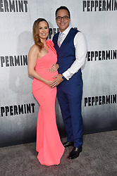 August 28, 2018 - Hollywood, California, U.S. - Erin Carufel and Scott Connors arrives for the premiere of the film 'Peppermint' at the Regal Cinemas LA Live theater. (Credit Image: © Lisa O'Connor/ZUMA Wire)