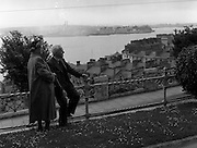 01/02/1957<br /> 02/01/1957<br /> 01 February 1957<br /> View of over the rooftops of Cobh Co. Cork.  Haulbowline Island in background.