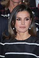 Queen Letizia of Spain attends the delivery to King Felipe VI of Spain of the 'World Peace & Liberty Award'  at the closing session of the 'World Law Congress (WLC)' of the 'World Jurist Association (WJA)' at Royal Theater on February 20, 2019 in Madrid, Spain