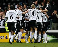 Photo: Steve Bond/Sportsbeat Images.<br />Derby County v Blackburn Rovers. The FA Barclays Premiership. 30/12/2007. Matt Oakley celebrates