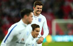 Harry Maguire of England - Mandatory by-line: Robbie Stephenson/JMP - 05/10/2017 - FOOTBALL - Wembley Stadium - London, United Kingdom - England v Slovenia - World Cup qualifier
