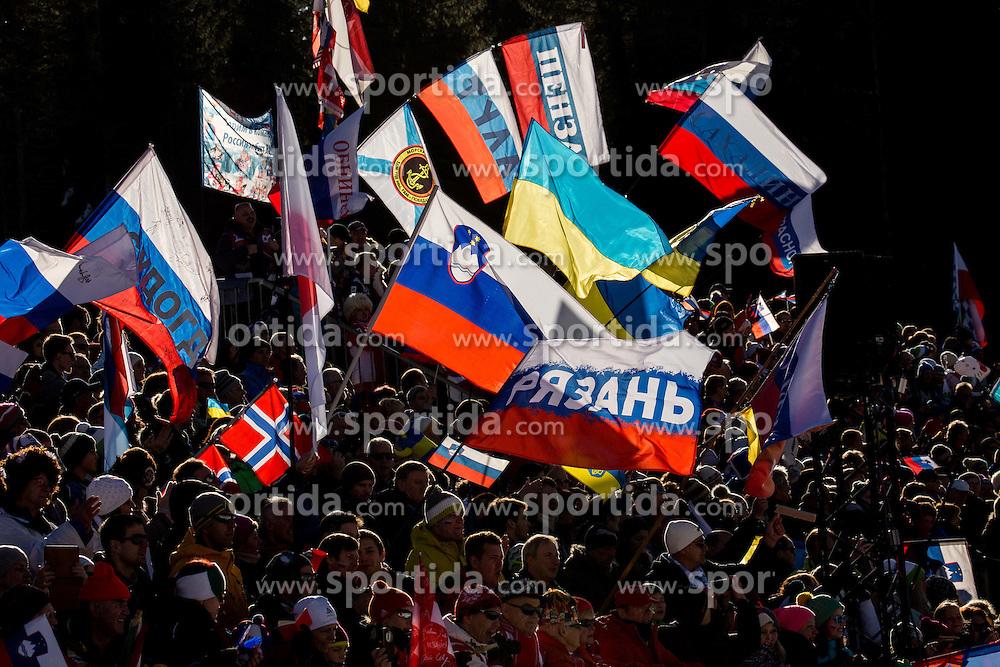 Fans  during Men 12,5 km Pursuit at day 3 of IBU Biathlon World Cup 2015/16 Pokljuka, on December 19, 2015 in Rudno polje, Pokljuka, Slovenia. Photo by Vid Ponikvar / Sportida