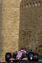 June 24, 2017 - Baku, Azerbaijan - Esteban Ocon of France driving the (31) Sahara Force India F1 Team on track during final practice for the Azerbaijan Formula One Grand Prix at Baku City Circuit. (Credit Image: © Aziz Karimov/Pacific Press via ZUMA Wire)
