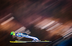 31.12.2017, Olympiaschanze, Garmisch Partenkirchen, GER, FIS Weltcup Ski Sprung, Vierschanzentournee, Garmisch Partenkirchen, Qualifikation, im Bild Eetu Nousiainen (FIN) // Eetu Nousiainen of Finland during his Qualification Jump for the Four Hills Tournament of FIS Ski Jumping World Cup at the Olympiaschanze in Garmisch Partenkirchen, Germany on 2017/12/31. EXPA Pictures © 2018, PhotoCredit: EXPA/ JFK